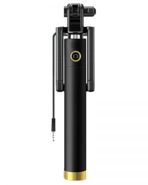 Eyuvaa Portable Compact Wired Selfie Stick for all Smartphones