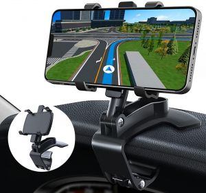 EYUVAA Car Phone Holder for Dashboard, 360 Degree Rotation Car Mobile Stand Compatible for All Smartphones (Black)