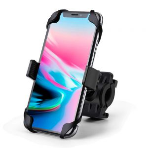 Universal Adjustable Silicon Bike Phone Mount Holder Compatible with All Smartphones for Bicycle Motorcycle