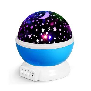 Rotating Projector Lamp, Night Light Lamp, Star Projector Romantic LED Night Light 360 Degree Rotation 4 LED Bulbs 9 Light Color Changing with USB Cable for Birthday,Parties,Kids Bedroom, Gifts