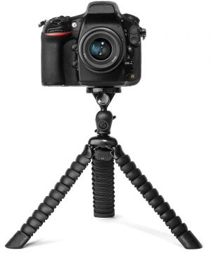 Eyuvaa Flexible Spider Disc Legs Camera Tripod for DSLR, Mirrorless and SLR Cameras, Smartphones with Universal Phone Mount (12 Inch, Black)