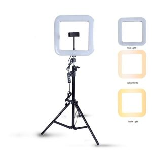 Eyuvaa 16-inch Square Shape LED Ring Light for Photography Shooting Fill Light with 70 inch Tripod Stand for YouTube Instagram Video Making