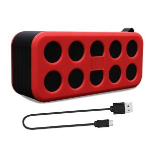 Bluetooth Speakers Portable Wireless Speaker 10W Big Migicbox Stereo Loud Speaker with TWS Bluetooth Speakers (Red)
