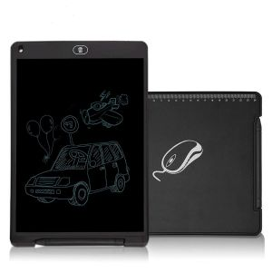 EYUVAA 11-inch LCD Writing Tablet with Lock Function Business Memo Pad Daily Planner Doodle Paperless Message Drawing Board for Home Office School (Black)