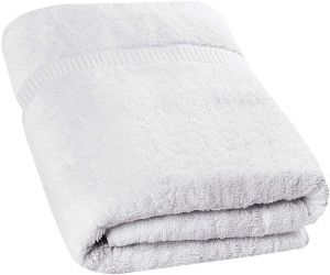 EYUVAA  Quick Dry 100% Cotton Checked 500 GSM Bath Towel (White)