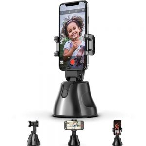 The Personal Robot-Cameraman, 360 Rotation Auto Tracking rotatable Smart Following Face & Object Tracking Intelligent shootings Phone Mount Personal Sensor Holder Tripod