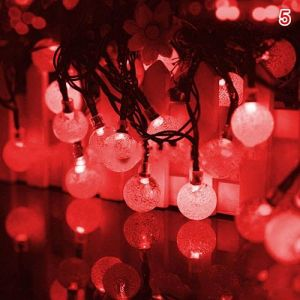 EYUVAA Crystal Ball String Lights Home Decoration Fairy Led Lights Festive Light for Decoration (8 Meter,18 LED, Red Colour)