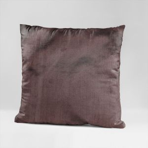 EYUVAA  Polysilk Cushion Covers with Zipper, Standard, Throw Pillow (16 inch x 16 inch ) Brown  Set of 5