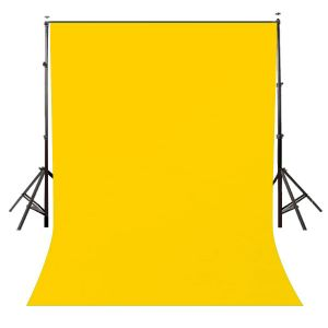 Lycra Wrinkle Resistant Yellow Screen Photography Background Cloth for Photoshoot Portrait Video Shooting (8x12 ft) (Yellow)
